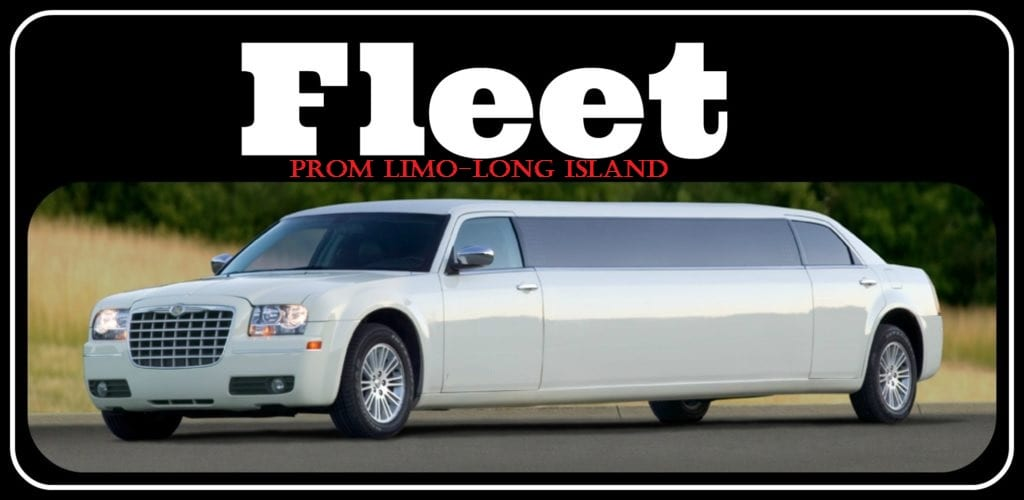 Prom Limo Long Island Fleet Shot